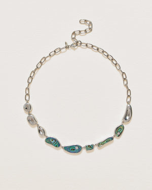 hilma collar necklace with abalone