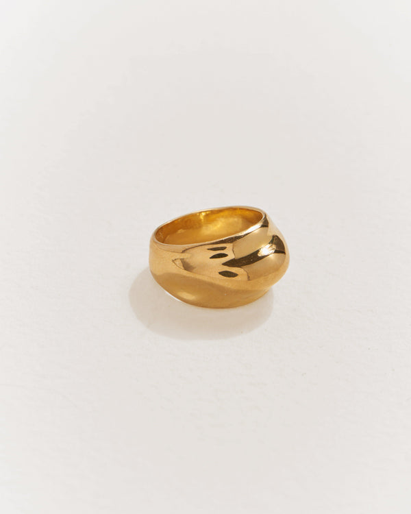 gold plate dome ring