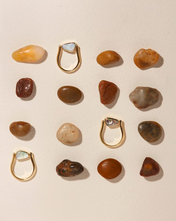 rotating pilar rings collection by pamela love