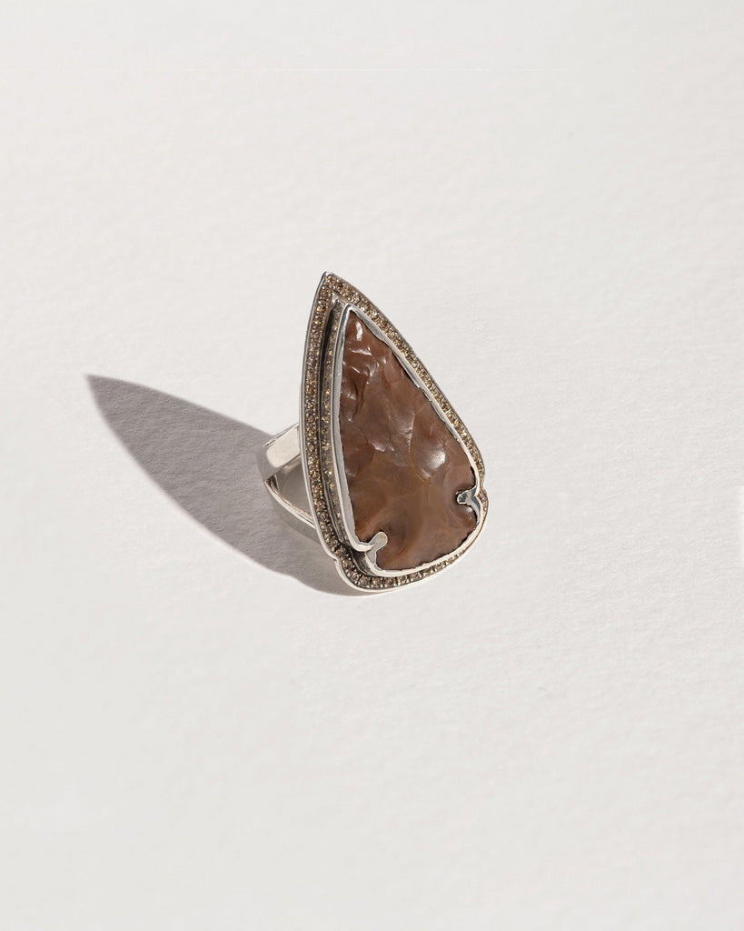 Pavé Arrowhead Ring