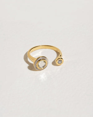 gravitation ring with white diamonds