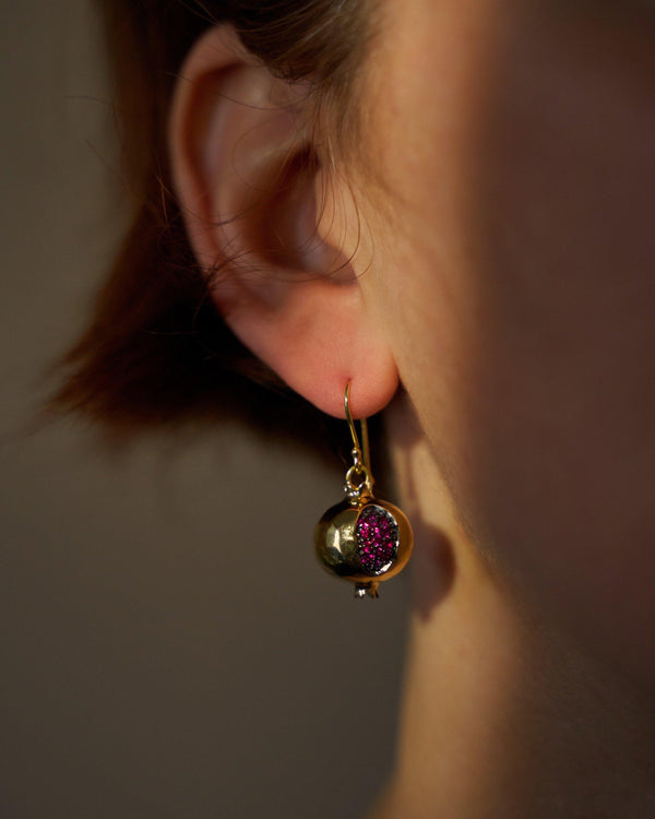 Ruby Persephone Earrings