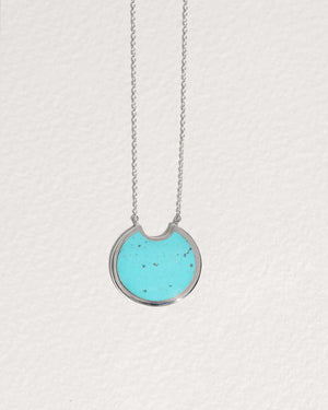large turquoise pendant necklace