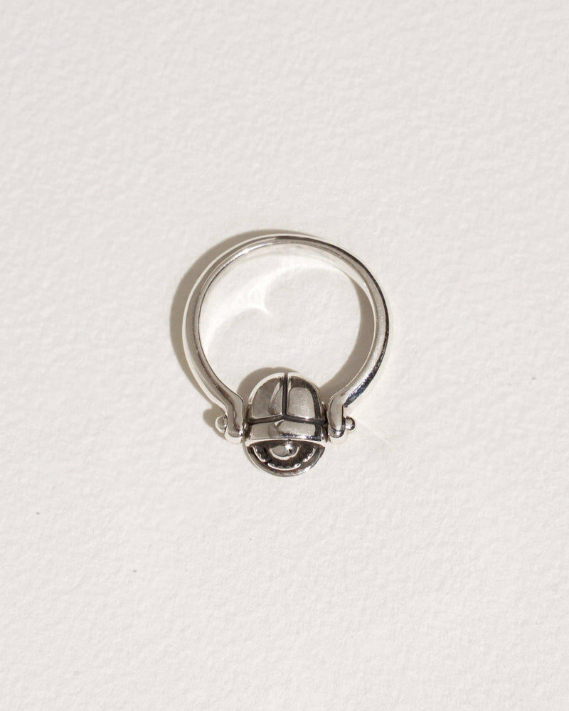 scarab ring with sterling silver
