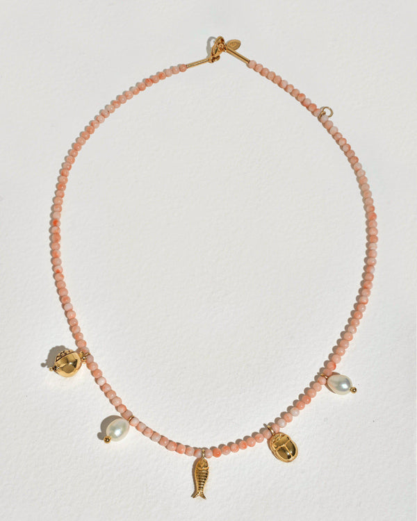 pink opal journey necklace