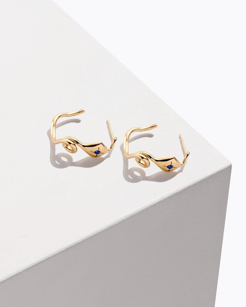 Squiggly snake hoops