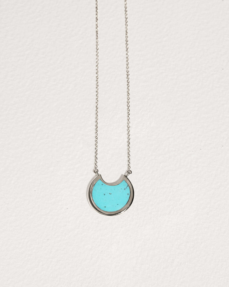 small mojave pendant necklace with turquoise inlay