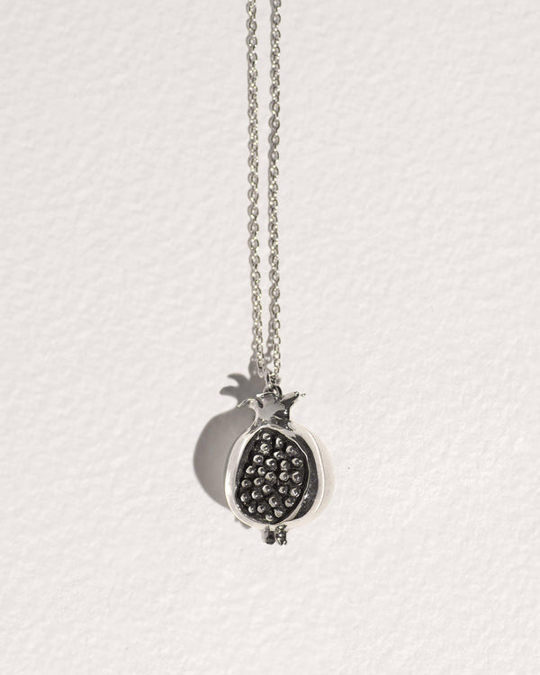 silver pomegranate necklace