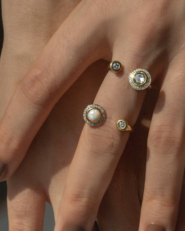 gravitation ring on the models hand