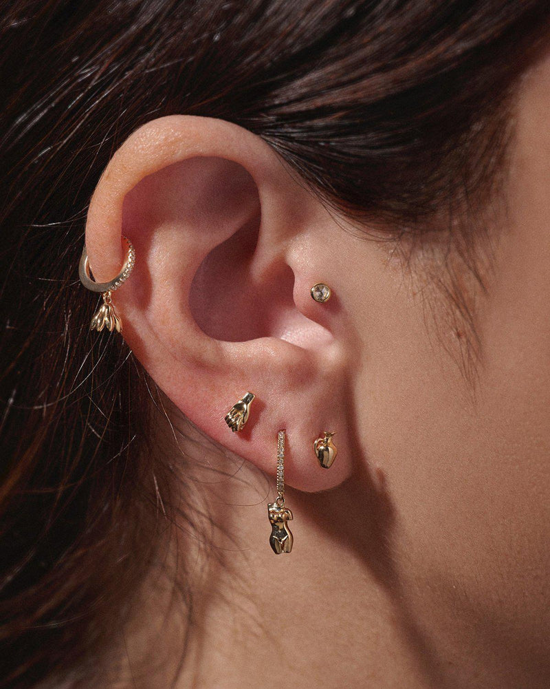 gold ear piercings by pamela love