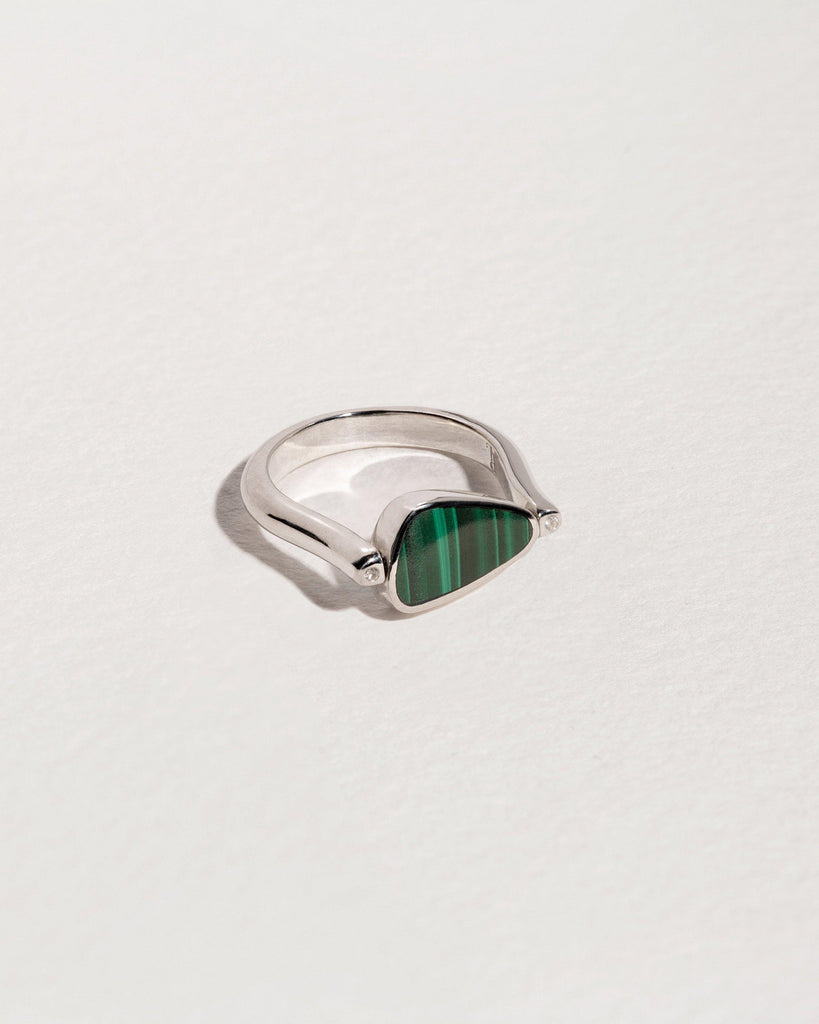 rotating pilar ring malachite
