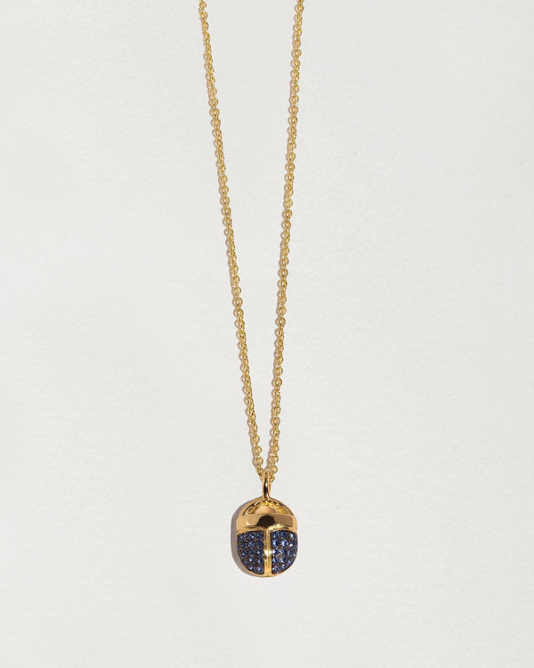 sapphire scarab necklace