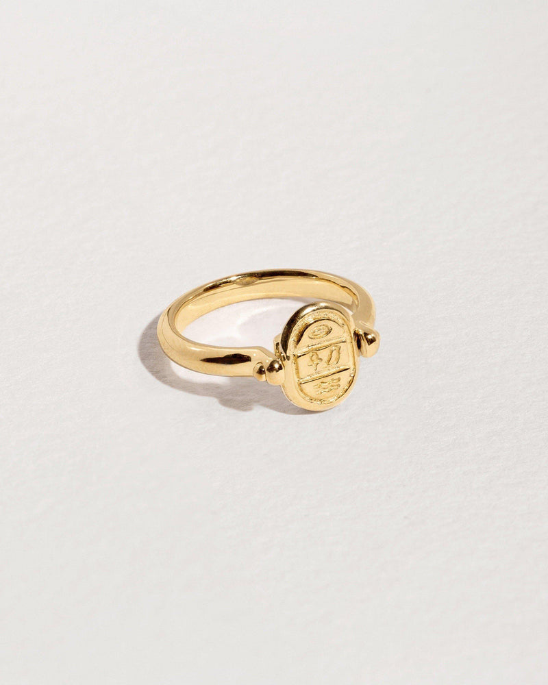 Rotating Pavé Scarab Ring