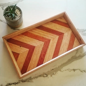 Chevron Tray - Reclaimed Timber
