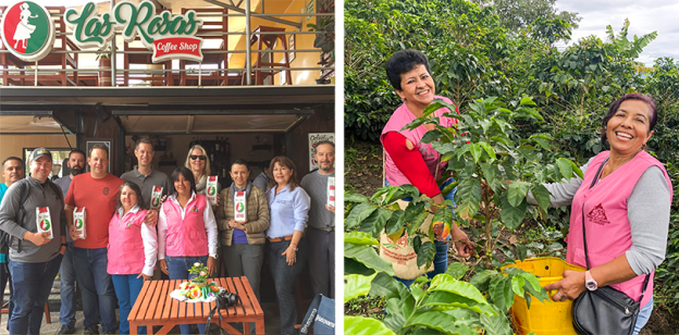Balzac's Coffee Visiting Las Rosas Women's Group in Colombia