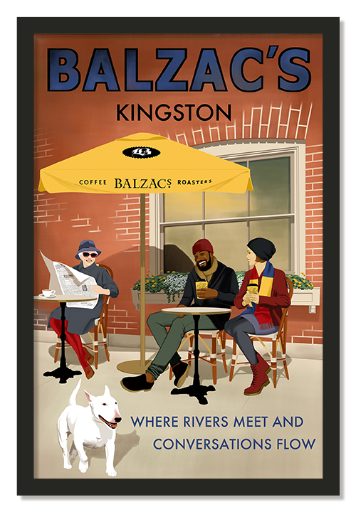 Balzacs Coffee Kingston Poster
