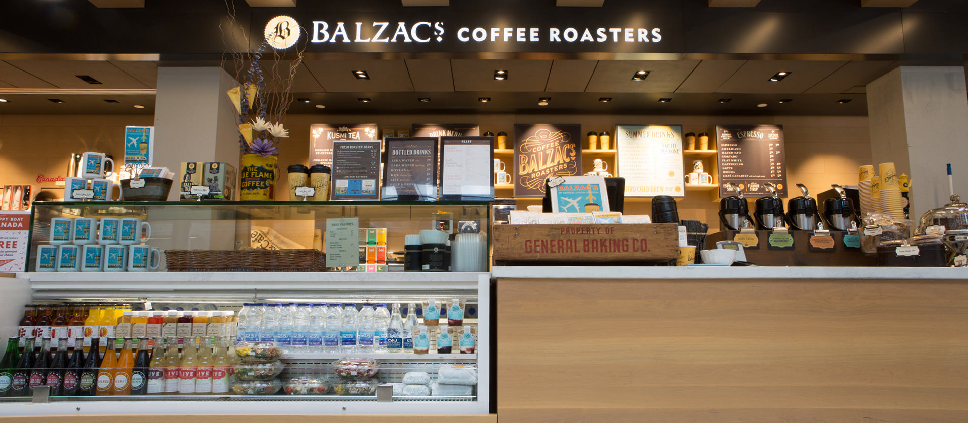 Balzacs Coffee UP Express Front Counter