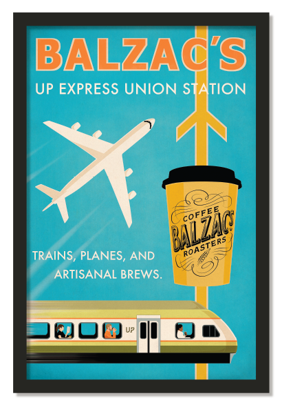 Balzacs Coffee UP Express Poster