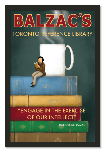 Balzacs Coffee Reference Library Poster