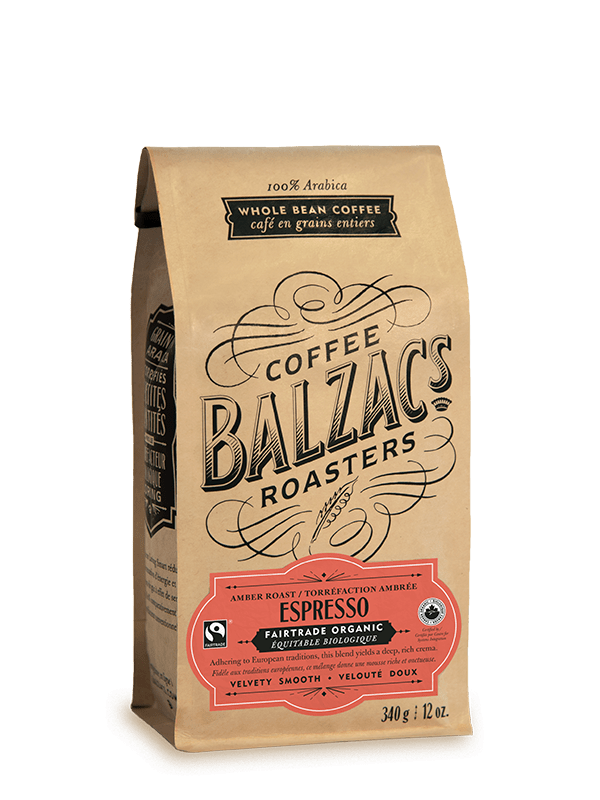 Espresso Bean and Blend - Balzac's Amber Roast Fairtrade Organic Coffee