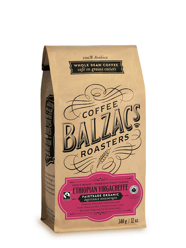 Ethiopian Yirgacheffe Stout Roast Fairtrade Organic Single Origin Coffee