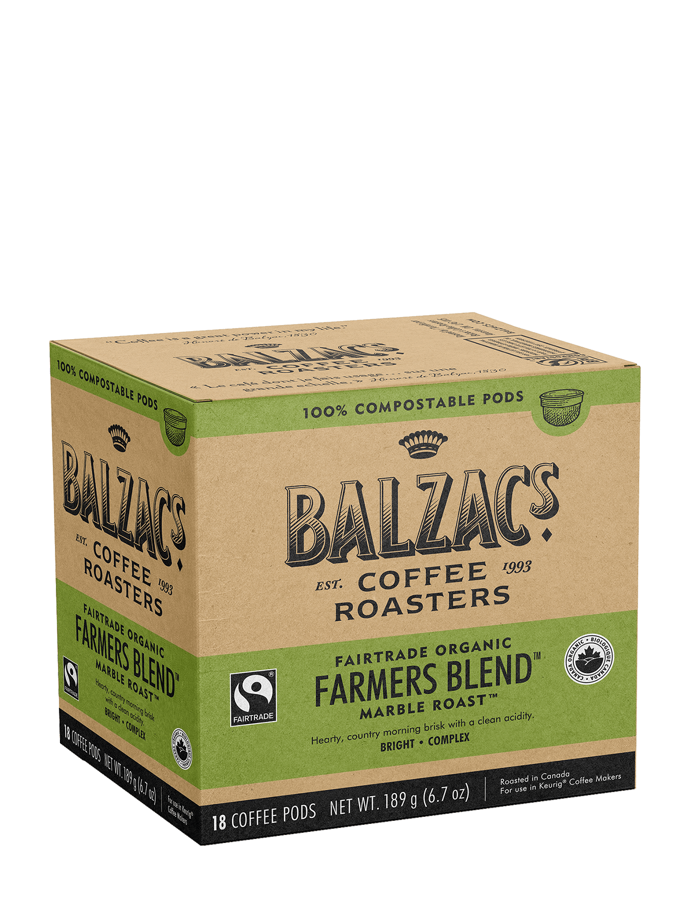 Farmers Blend - 18 100% Compostable Keurig® Pods