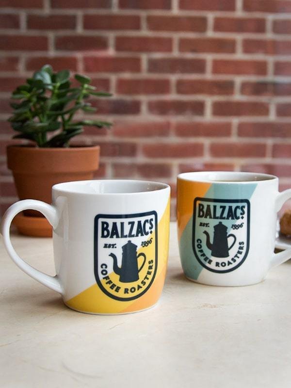 Balzac's Coffee Winter Gift Set Retro Mug 12oz