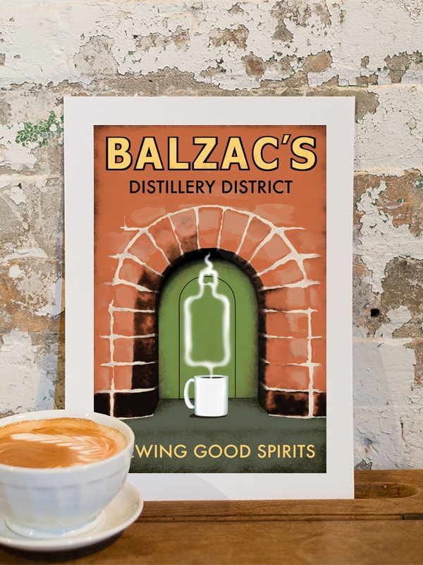 Balzac's Distillery District Poster 10x14