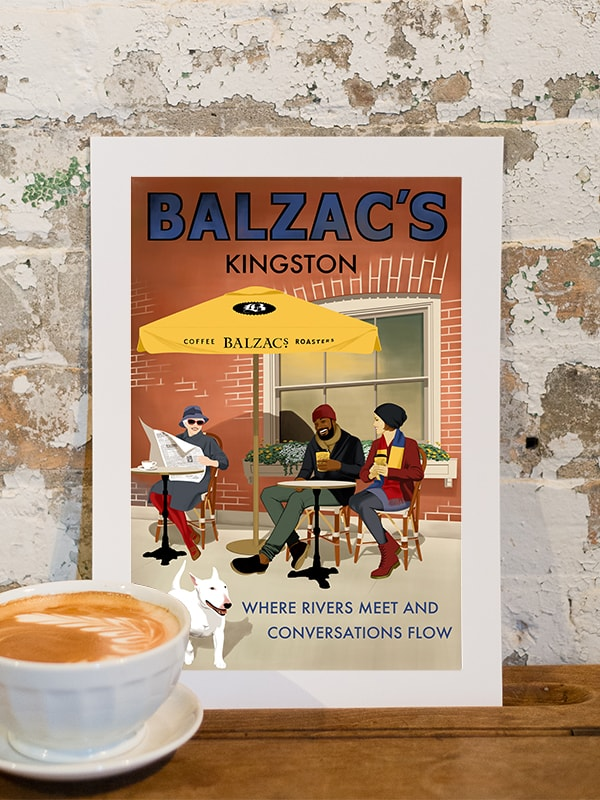 Balzac's Kingston Café Poster 10x14