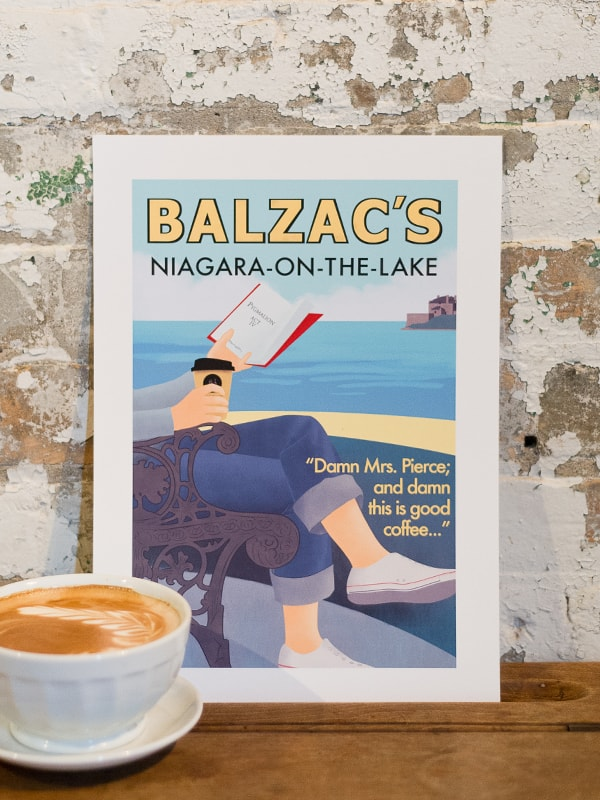 Balzac's Niagara on the Lake Café Poster 10x14