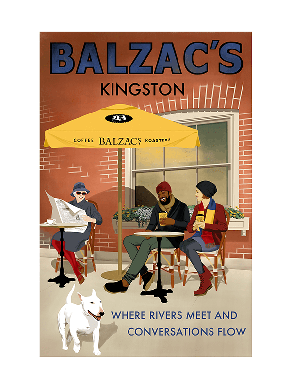 Balzac's Kingston Café Poster