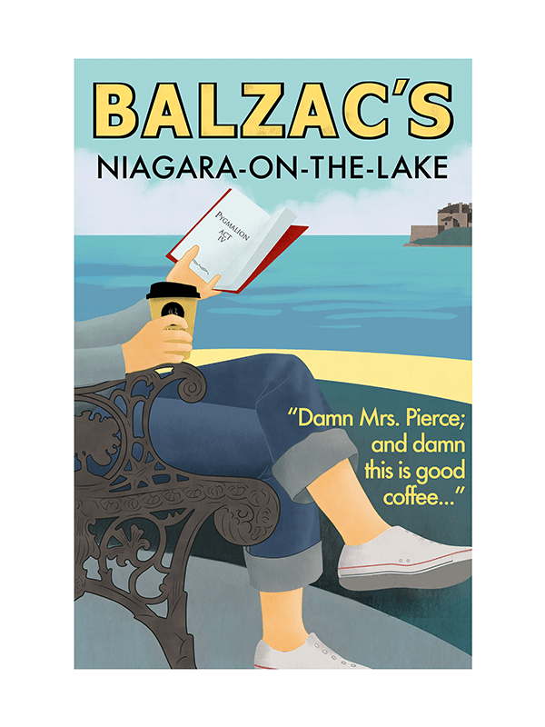 Balzac's Niagara on the Lake Café Poster