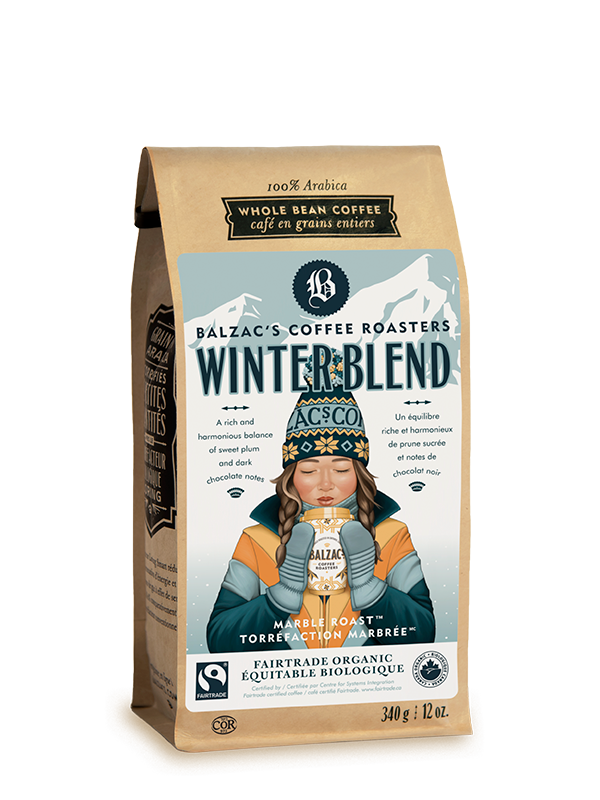 Balzac's Coffee Winter Gift Set Winter Blend 12oz Coffee