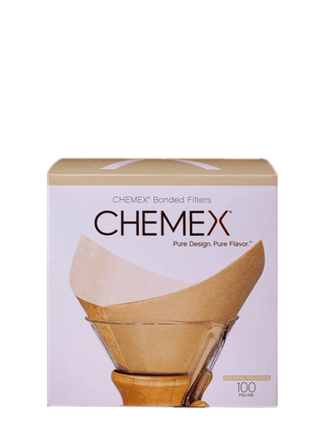 Chemex Unbleached Filter Squares 100 filters per pack