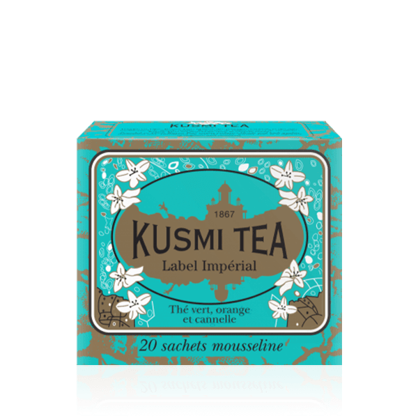 Kusmi Tea Imperial Label Green Tea 20 Muslin Tea Bags