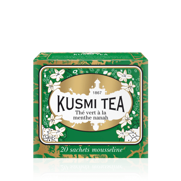 Kusmi Tea Spearmint Green Tea 20 Muslin Tea Bags