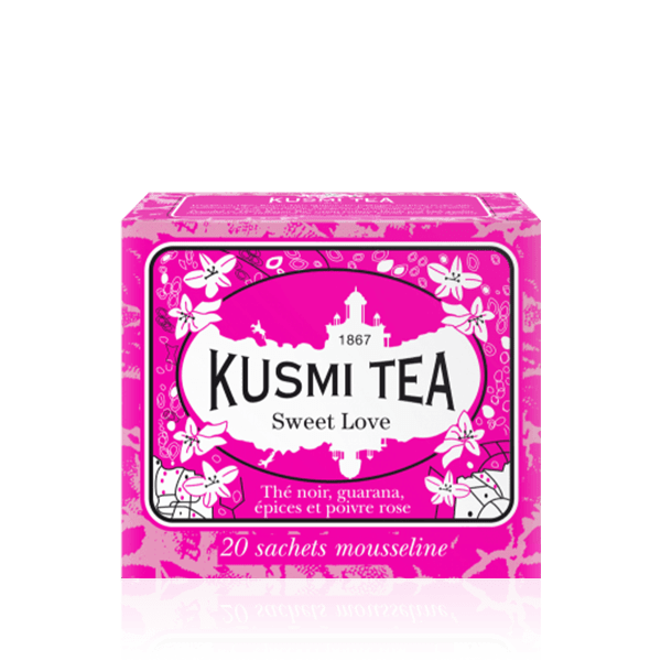 Kusmi Tea Sweet Love Wellness Tea 20 Muslin Tea Bags