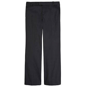 French Toast Girls' Adjustable Waist Flat Front Pant (Black)