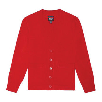 French Toast Boys' V-Neck Anti-Pill Cardigan (Red)