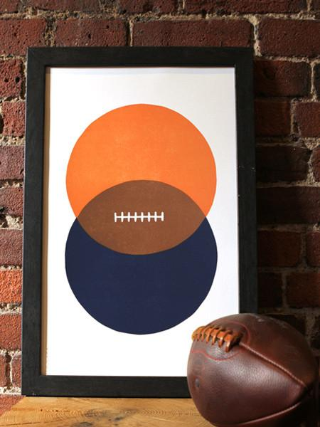 Charlottesville Common Letterpress Virginia Football Print Old Try