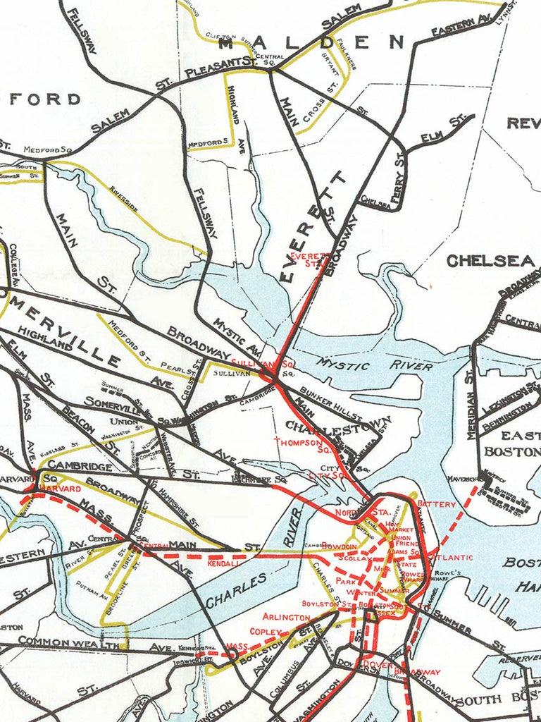 1925 Boston Elevated Railway Lines - Old Try