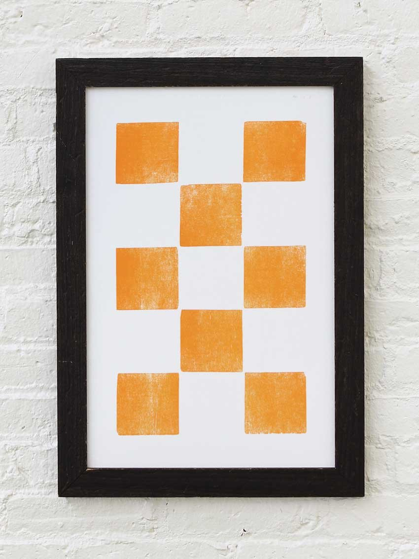 Eight Orange Squares