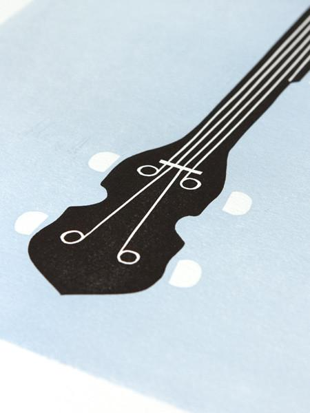Five String Letterpress Print | Banjo | Southern Gifts
