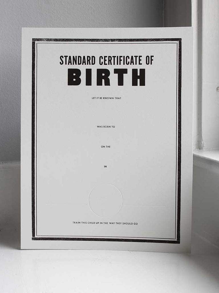 Standard Certificate of Birth | Birth Certificate - Old Try