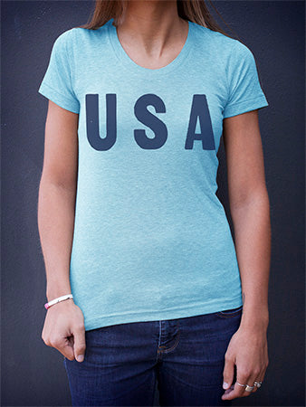 Backstock - USA - Womens Blue Medium - Old Try