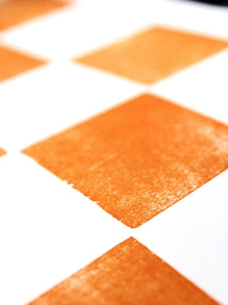 Eight Orange Squares Letterpress Print | University of Tennessee Gifts