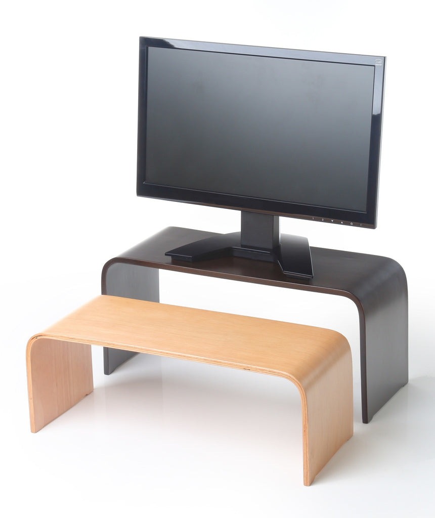 ... Keyboard U0026 Monitor Risers   Bent Wood Monitor Riser · Standing Desk ...