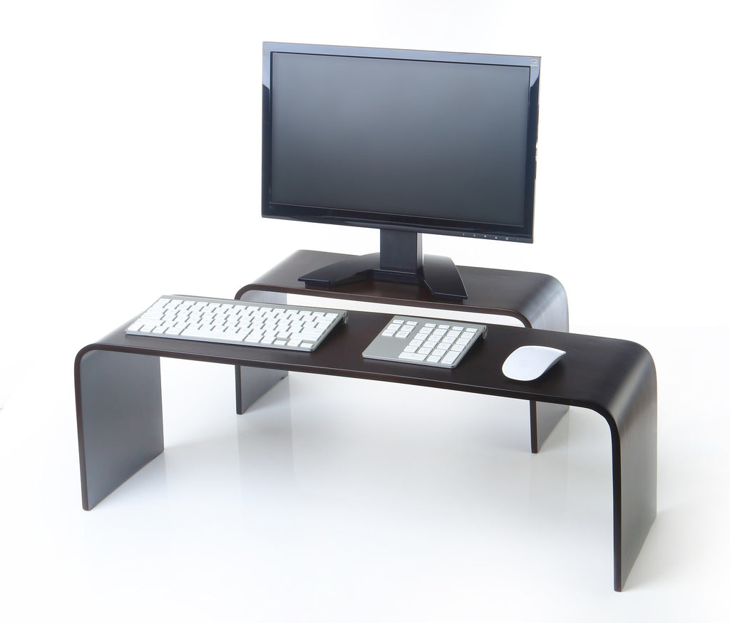 keyboard u0026 monitor risers bent wood monitor riser