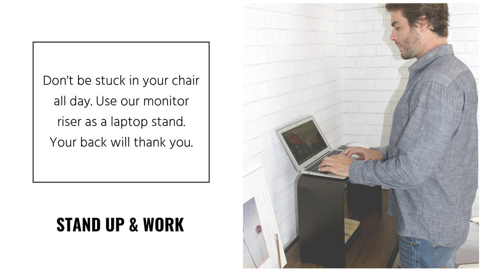 Monitor & keyboard stand convert your desk to a standing desk!