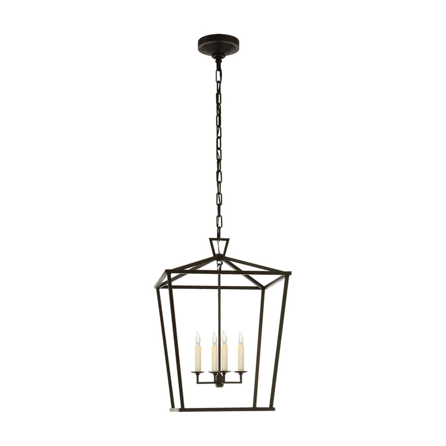 4 Light 17 inch Foyer Lantern Ceiling Light